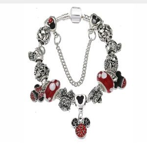 Mickey Mouse Charm Bracelet Minnie, Donald, Daisy